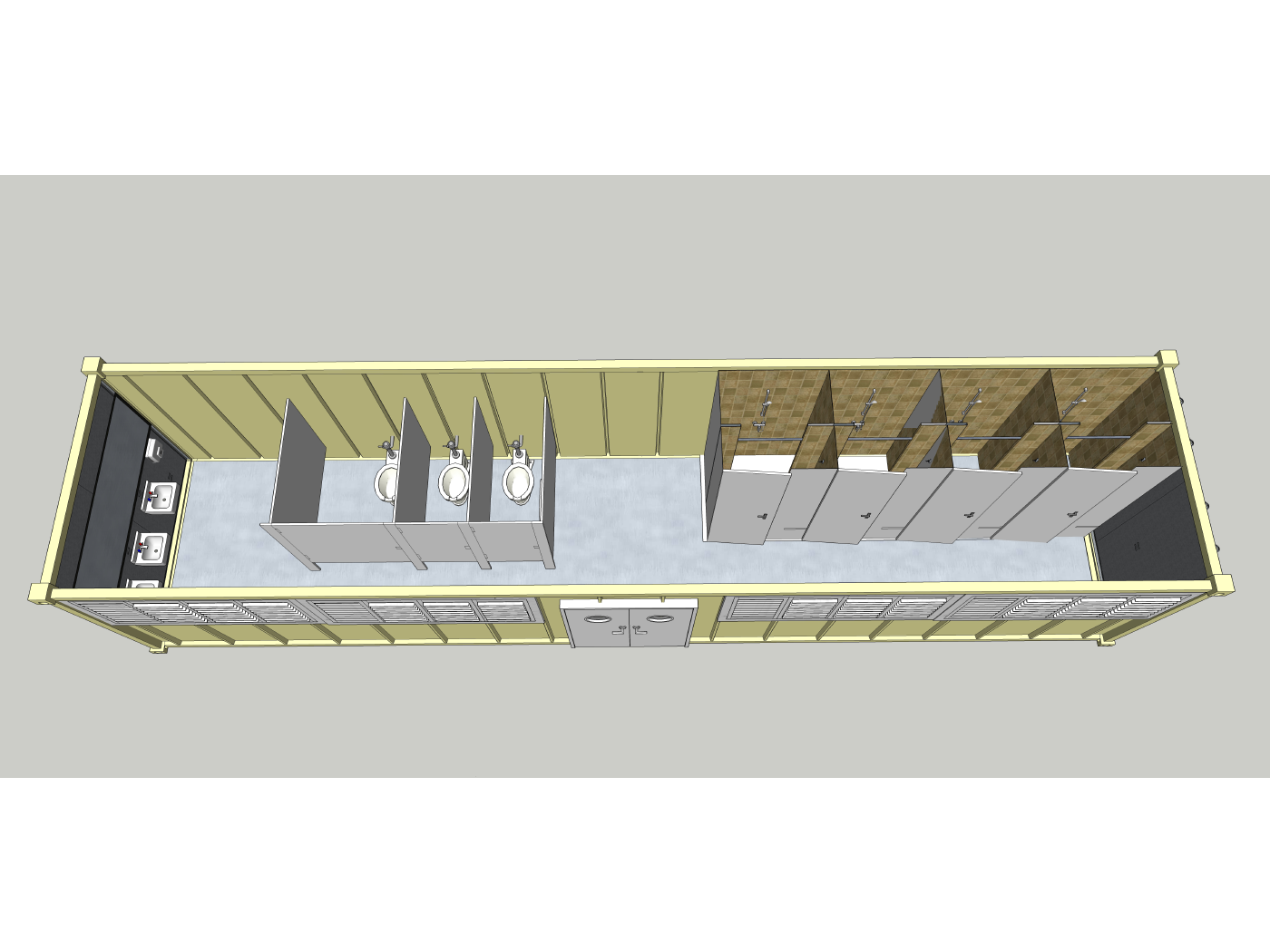 Project: Alive Sanitation Unit - Front-Top