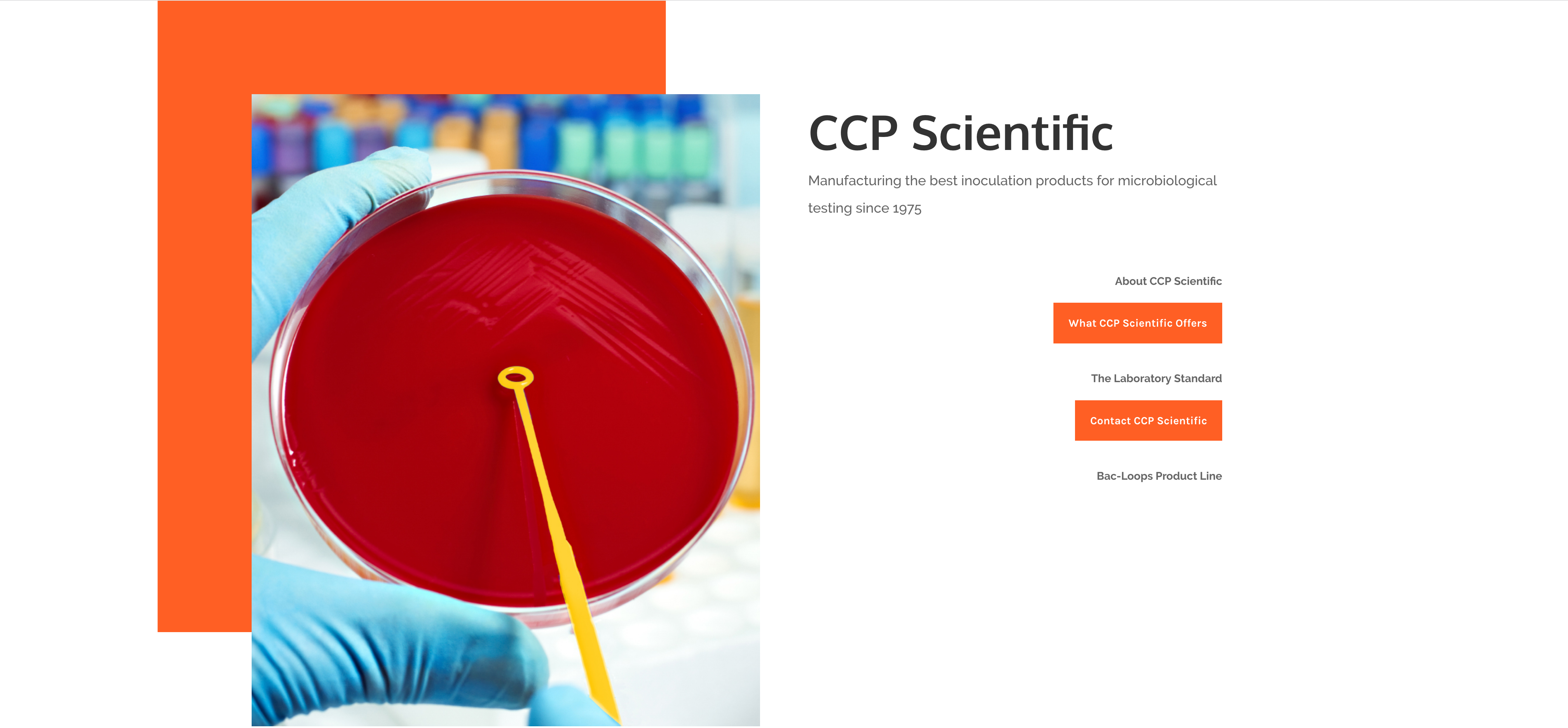 CCP Scientific website screenshot