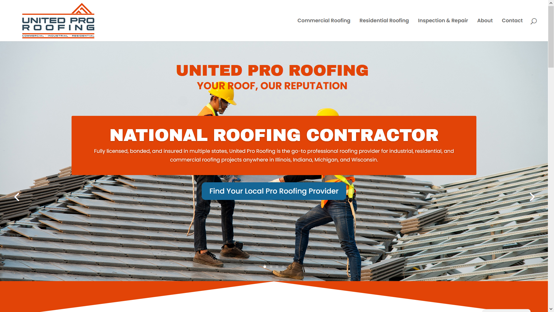 United Pro Roofing Main Page